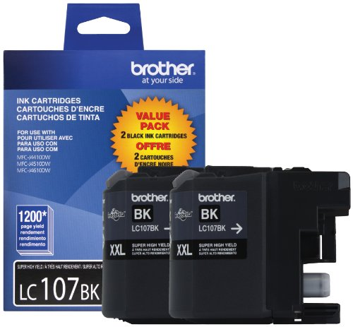 Brother Lc1072 Packs Lc1072 Packs 2 Pack Black Cartridge Black LC1072PKS