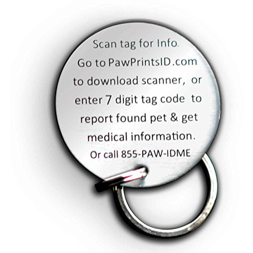 Picture of Paw Prints ID QR Smart GPS Pet Collar Rescue and Recovery ID Dog Tag