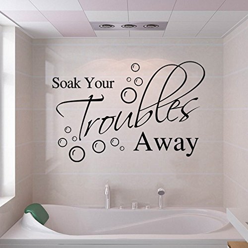 Bathroom Wall Stickers For Soak Your Troubles Away by KiKi Monkey (Image #2)