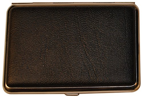 Budd Leather 4-Section Pill Box, Large, Black