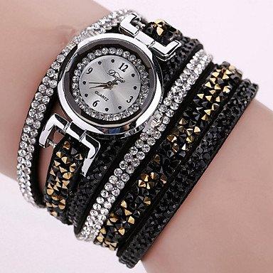Fashion Watches Relojes Mujer 2016 Fashion Women Watches Bracelet Leather Watch Strap Weaving Dress Digital Watch
