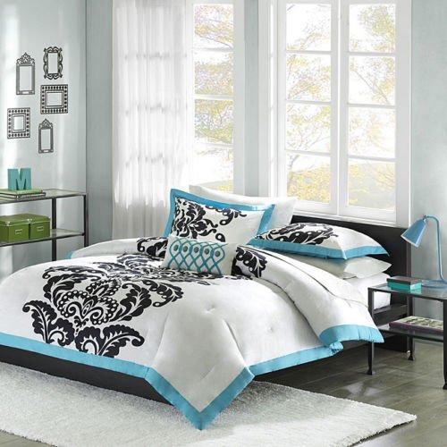 Florentine Comforter Set (Florentine Teal Modern 4 piece Comforter Set Size:)
