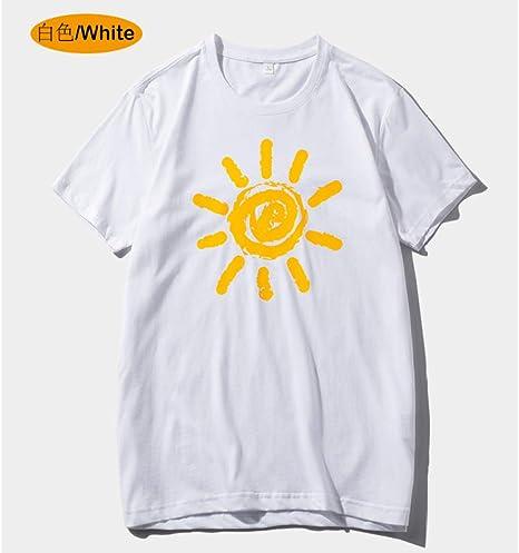 jknnw Camiseta Coreana de Verano para Hombres japoneses Camisa de Manga Corta para Hombre Cuello Redondo reparación Ropa de Media Manga Camiseta para Hombres Tendencia: Amazon.es: Deportes y aire libre