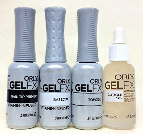 Orly Gel FX Essentials - Top Coat, Base Coat, Primer & Cuticle Oil - 9ml - Orly Coat Top