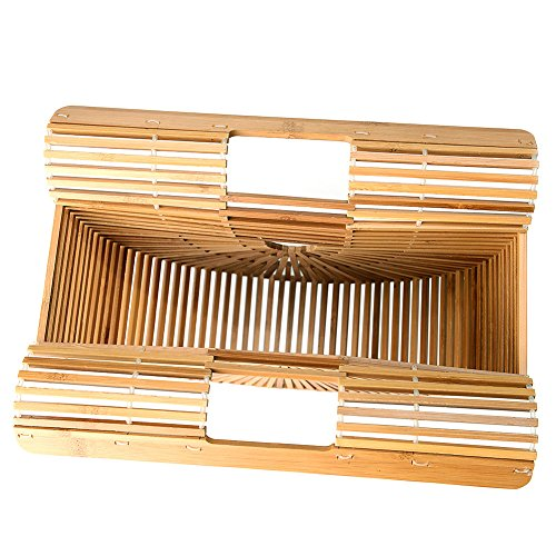 Bamboo Handbag Handmade Tote Bag Handle Straw Beach Bag for Women By Samuel (7.87''x11.02''x2.99'') by Samuel (Image #6)