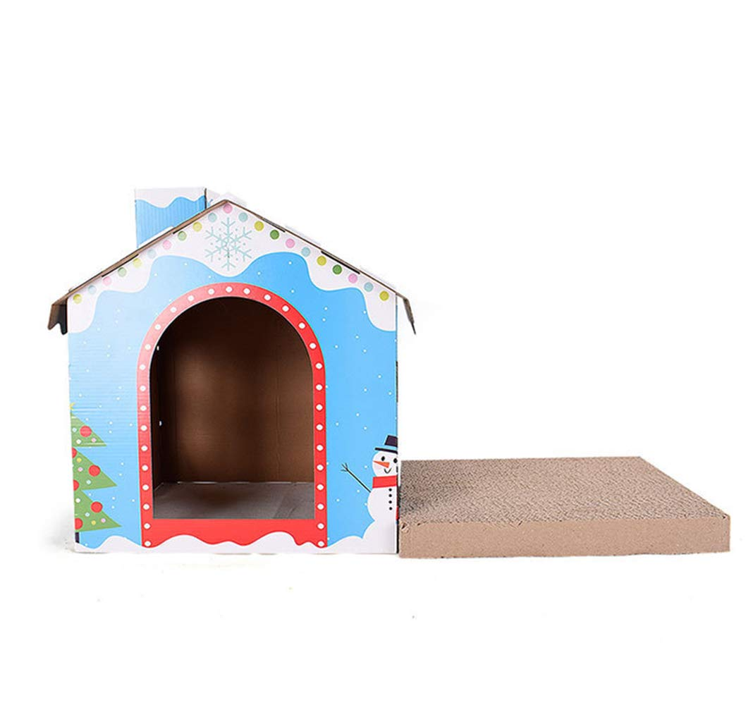 WYBZD Cardboard Cat House Scratching Board Pad Cat Bed Toy Corrugated House with Durable Recyclable Paper Carton,Halloween