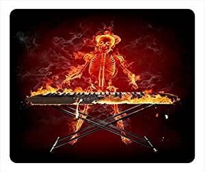 Specter Design Rectangular Mouse Pad He Is Playing on a Fire Piano