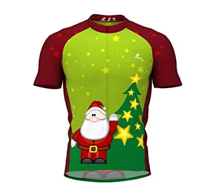 ScudoPro Christmas Santa Short Sleeve Cycling Jersey for Women - Size XS 1c714702d