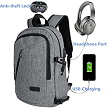 BstAmzStore 3in 1 Laptop Backpack with USB Charging Port&Password Lock&Headphone Interface, Business Travel Rucksack for 12-15.6 inch Laptop&Tablet,Multiple Pockets Waterproof Student Bookbag Daypack