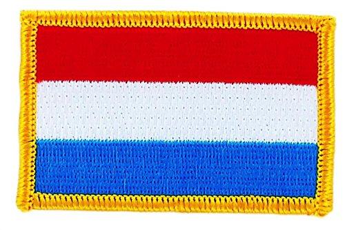 Patch Aufnäher bestickt Flagge Luxemburg zum Aufbügeln Abzeichen Wappen Backpack