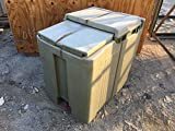 Cambro Military Ice Chests Box Green Catering Field Plastic Meal Kitchen