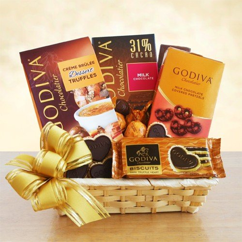 Exquisite Godiva Chocolate Gift Basket