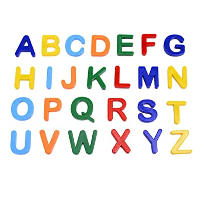 everd1487HH Magnetic Colorful English Alphabet Number Shape Puzzles Educational Kids Toy,Perfect Christmas Toys for Kids Gift Capital Letter#: Home & Kitchen