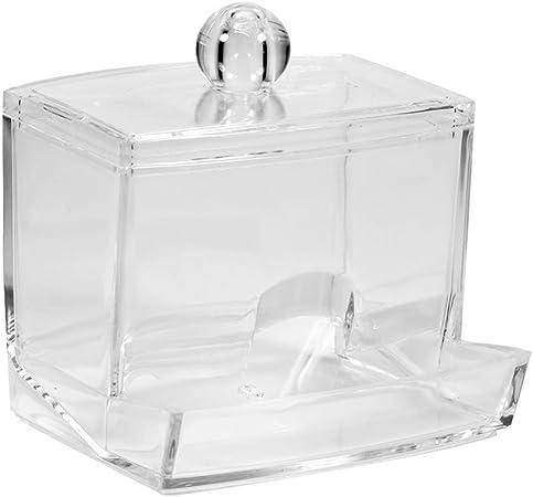 Dispenser Temponi di Cotone Scatola Portaoggetti con Coperchio drawihi Hotel fornisce piccolo e facile da trasportare cristallo cotton fioc Box