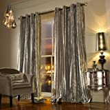 Kylie Minogue Iliana Eyelet Ring Top Fully Lined Pair of Curtains, Polyester, Praline, 66 x 90-Inch by Kylie Minogue