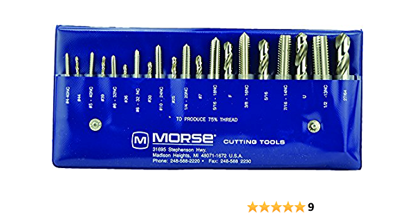 High-Speed Steel 8-32 Size Titanium Carbonitride Coated Finish Bottoming Style H3 Pitch Diameter Limit DIN Length Morse Cutting Tools 61544 Thread Forming High Performance Taps