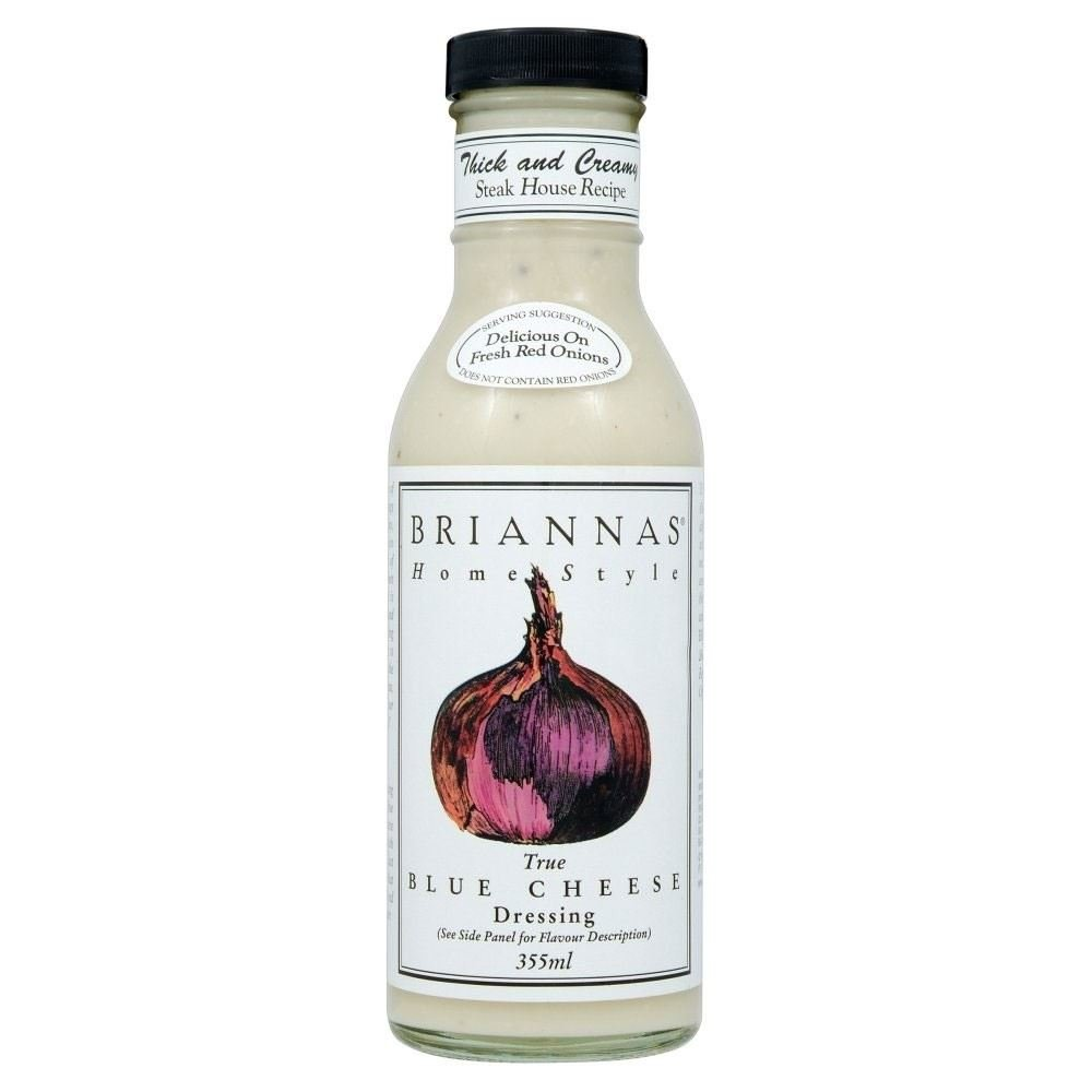 Briannas Home Style Blue Cheese Dressing (355ml) - Pack of 6