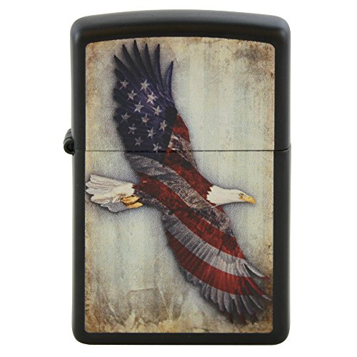 American Flag on Bald Eagle Custom Zippo Windproof Collectible Lighter. Made in USA Limited Edition & Rare