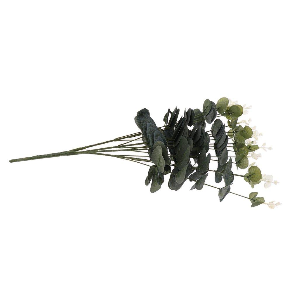 Amazon.de: MagiDeal 15Köpfe Künstliche Eukalyptus Blätter Blumen ...