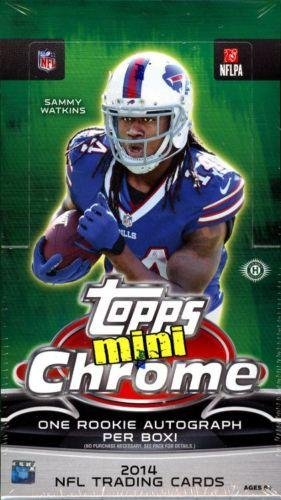 (2014 Topps Chrome Mini Football Hobby Box (24 Packs/Box, 4 Cards/Pack, One Mini Rookie Autograph Card/Box plus more inserts) - In Stock!! )