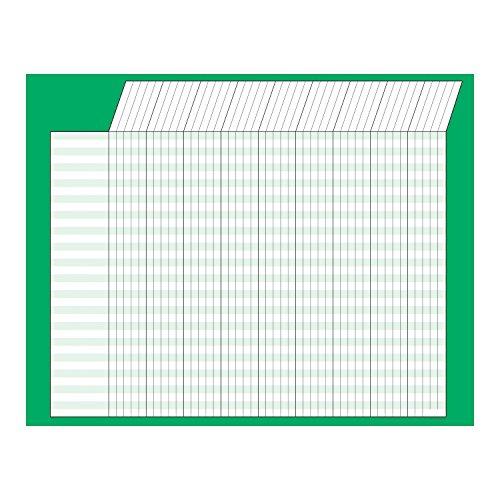 Horizontal Jumbo Incentive Charts - Trend Enterprises Inc Green Horizontal Incentive Chart, 22