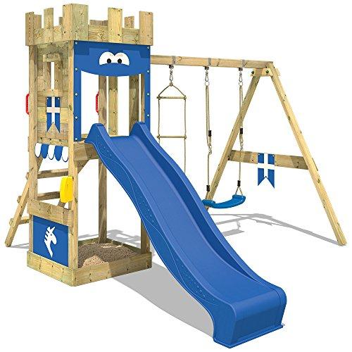 Großartig WICKEY Spielburg KnightFlyer Spielturm Kletterturm mit Schaukel  ED87