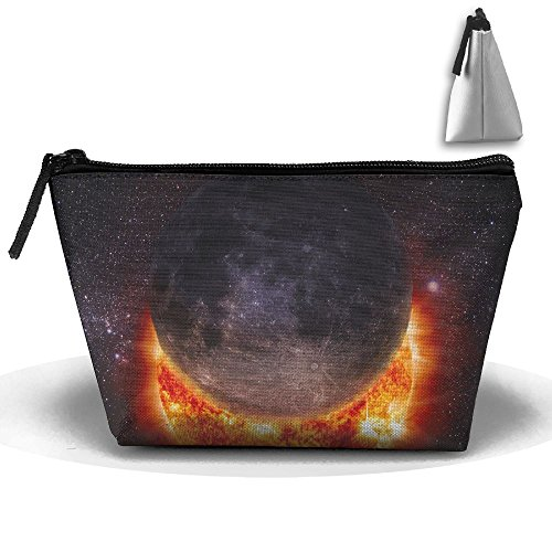 (Solar Eclipse Sun Makeup Bag Storage Portable Travel Wash Tote Zipper Wallet Handbag Carry)