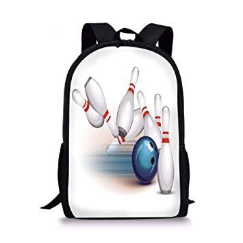 Amazon com | ZOZGETU backpack School Bags Bowling Party