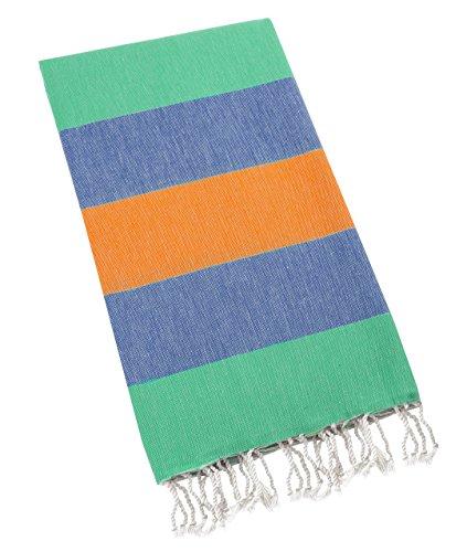 Supreme Zebra Print Rug (Swan Comfort 100% Natural Turkish Cotton Peshtemal for Beach Shower Bath Hammam Guest - Fast Drying - Orange - Green - Blue)