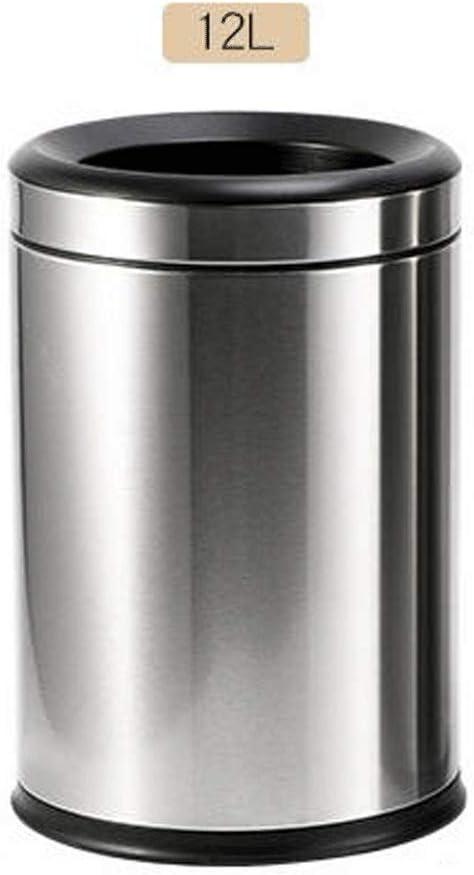 室内 コンパクトゴミ箱 12リットルのステンレス製長方形のゴミ箱ステンレス鋼のホテルの浴室のゴミ箱ことができベッドルームごみ箱 (色 : Silver, Size : 12L)