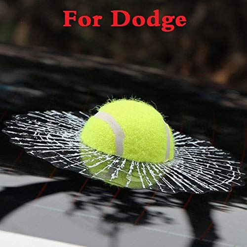 (ChenghuaguoChenghuaguo New Car Body 3D Ball Hits Window Self Adhesive Tennis Decal Stickers for Dodge Journey Magnum Nitro Stratus Viper car Styling)