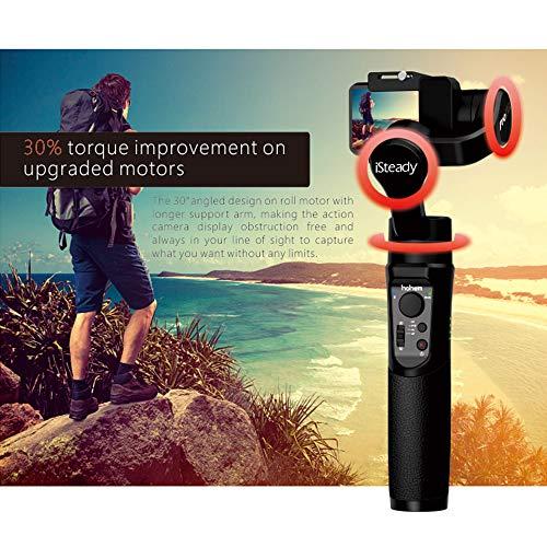 Hohem iSteady Pro 2 3-Axis Handheld Gimbal Stabilizer for Action Camera OSMO Action,GoPro Hero 7//6//5//4//3,Sony RX0,YI,SJCAM//Similar Size Soprt Camera,Splash Proof,12H Run Time,Time Lapse,w//Tripod