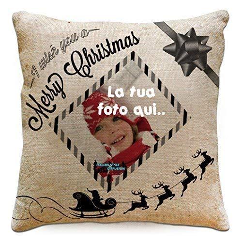Cojín Modificado Impresión Personalizada Foto Navidad Merry ...