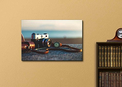 Retro Vintage Camera at Sunset in Park Wall Decor