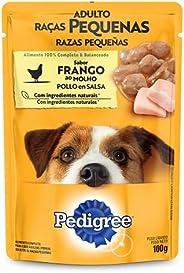 Ração Úmida Para Cachorros Pedigree Sachê Frango ao Molho Adultos Raças Pequenas 100g