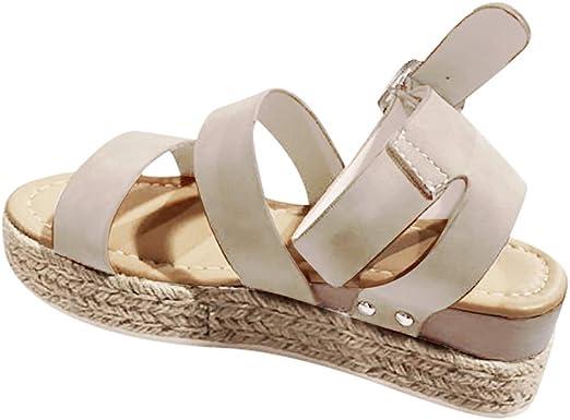 Sandales Compensées Femme Été Sandales Plateforme Confort