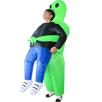 Ss Traje De Halloween Inflable Fantasma Fantasma Verde Traje ...