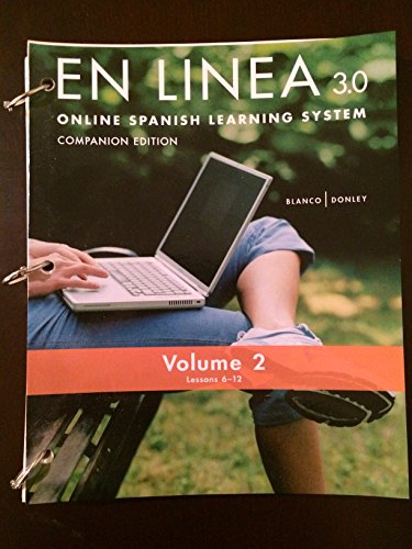 En Linea 3.0 Online Learning Program Companion Edition ~ Text only, no code
