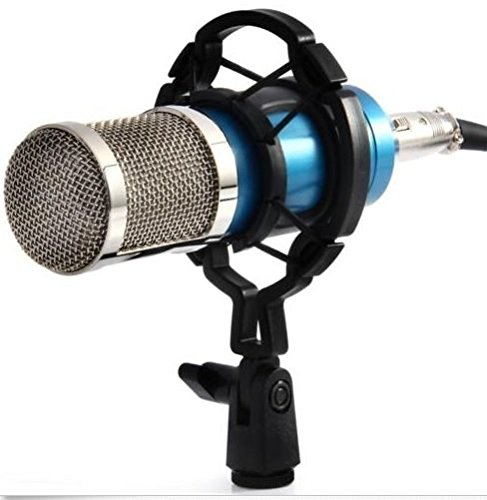 BM800 Condenser Pro Audio Microphone Black Sound Studio Dynamic Mic +Shock Blue