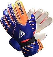 YUKOOL Soccer Goalkeeper Gloves for Kids,Junior Soccer Goaile Gloves with Finger Protection and Strong Grip,Fi