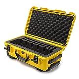 Nanuk 935 Waterproof Professional Gun Case, Military Approved, Custom Foam Insert with Wheels 6UP - Yellow