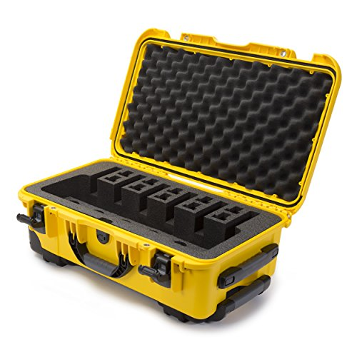 Nanuk 935 Waterproof Professional Gun Case, Military Approved, Custom Foam Insert with Wheels 6UP - Yellow