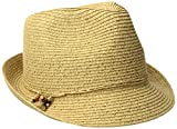 Nine West Women's Packable Fedora Hat, Natural Heather, One Size