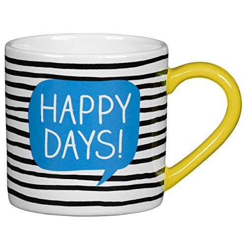 Happy Jackson Thermos Coffee Travel Mug, Striped (Striped And Coffee Mugs White Blue)