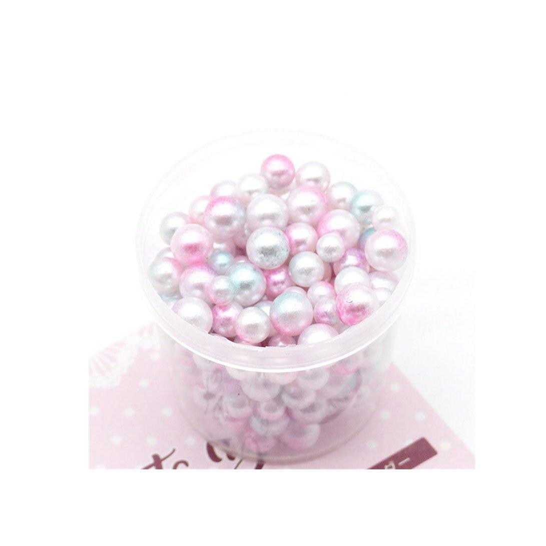 Malloom® 200PC Regenbogen-bunte Perlen-dekorativer Schlamm bördelt DIY Handwerk für crunchy Schleim Schleim DIY Spielwaren Keine Loch-Bälle Keine Loch-Perlen