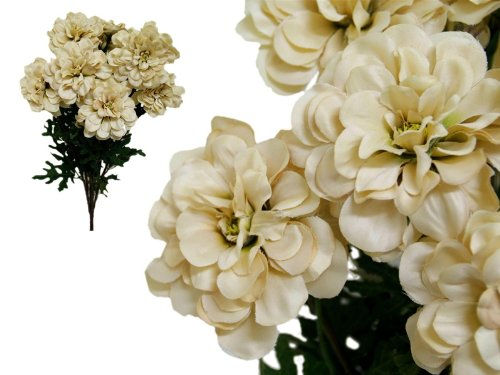 Tableclothsfactory-4-Bushes-California-Zinnia-Artificial-Wedding-Craft-Flowers-Champagne