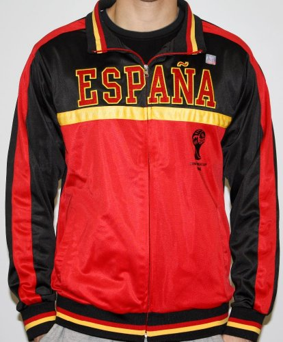 - Men's 2014 FIFA World Cup Soccer Hat Trick Espana Yoke Track Jacket (Adult Medium)