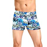 NUWFOR Men's Shorts Swim Trunks Quick Dry Beach SurfingPrintRunning Swimming Watershort(Multicolor,L Waist:27.6'')