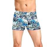 Wobuoke_Men shorts Swim Trunks Quick Dry Beach Surfing Print Running Swimming Watershort