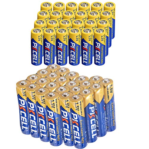 24 Pack AA + 24 Pack AAA 1.5V Extra Heavy Duty Batteries (48 Combo Pack) ()